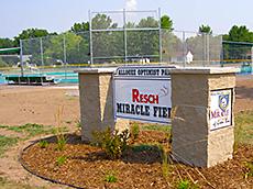 Resch Miracle Field sign
