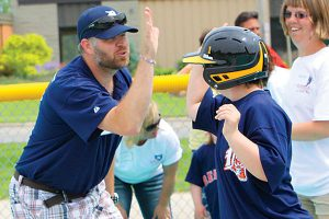 Miracle League high five