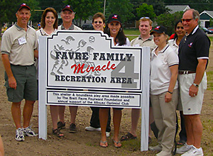 Dedication of Favre Family Miracle Recreation Area